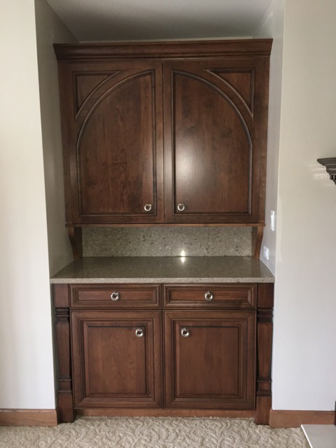 blumsafe closed wood cabinet double