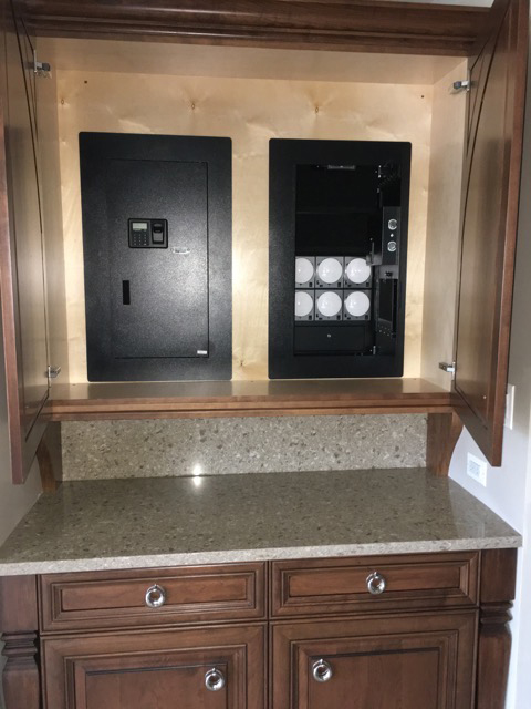 blumsafe open wood cabinet double