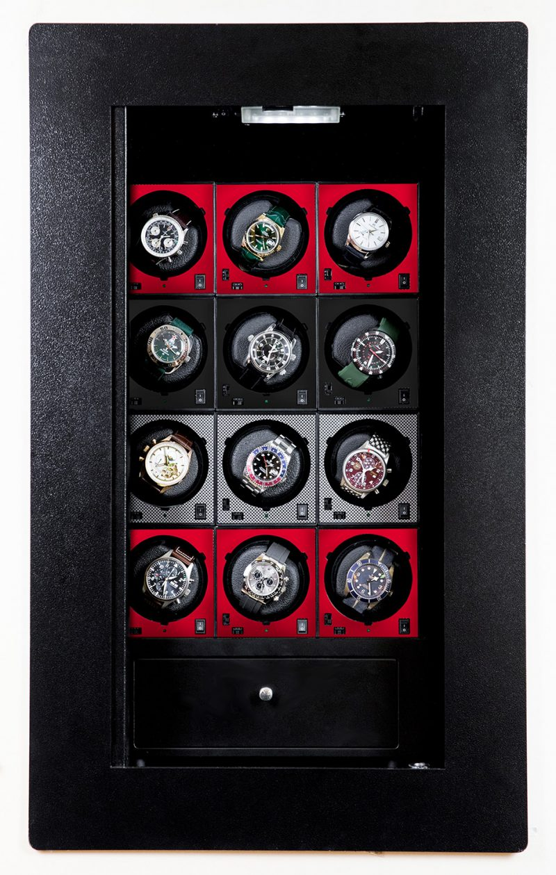 blumsafe display door carbon red black winders